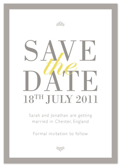 save the date cards - Contemporary Caroline by Kerry Jones