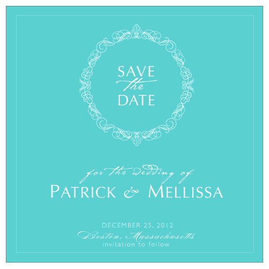 save the date cards - Wreath by LW