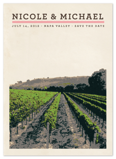 save the date cards - St. Helena by Alex Elko Design