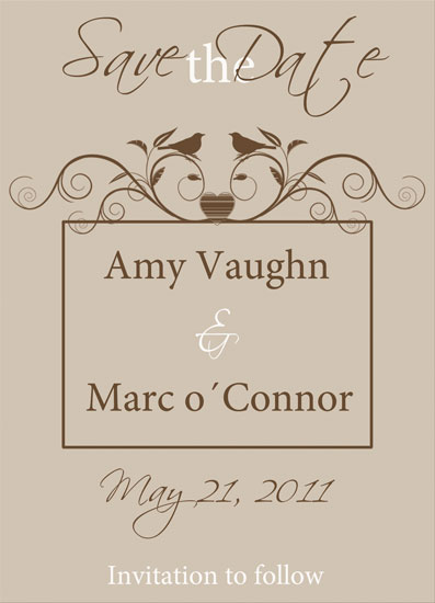 save the date cards - Natural Chic by Miss Polkadot Designs