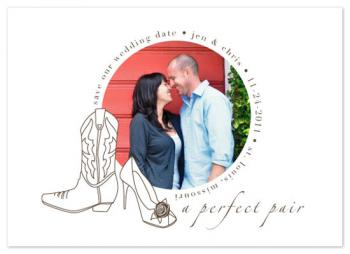 Perfect Pair Save the Date Cards