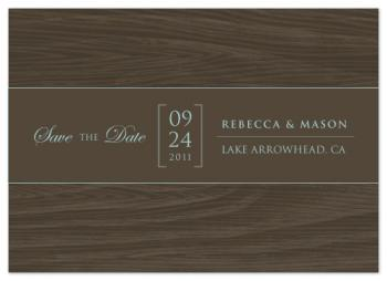 Lodge Save the Date Cards