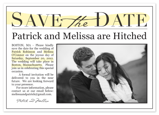 save the date cards - Happy News by LW