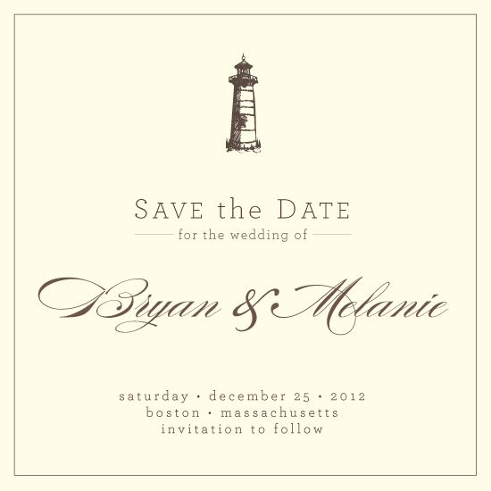 save the date cards - Light House by LW