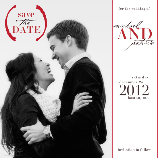 save the date cards - Passion Red by LW