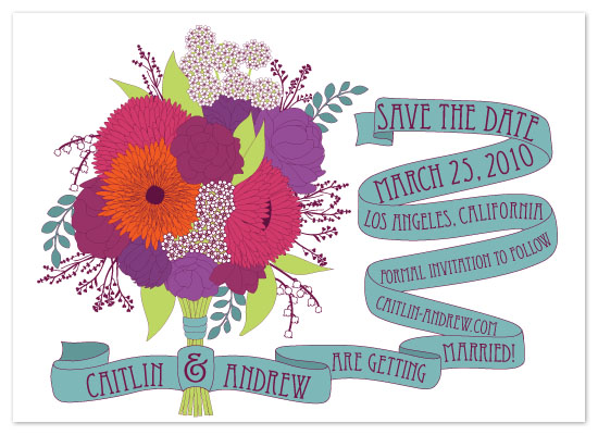 save the date cards - Fruit Punch Bouquet by Caitlin Lamb