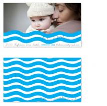 Waving By Contact Card by Sadie Visser Designs
