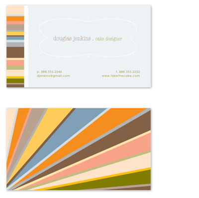business cards Sunburst at Minted