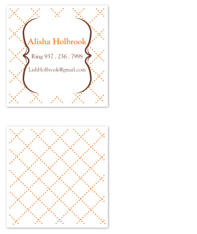 business cards - Rustic Dots Calling Card by Laura Elizabeth Designs