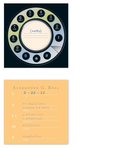 business cards - redial by xyz studio