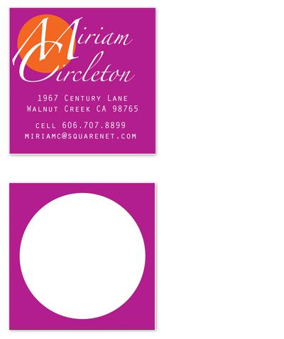 business cards - Zap Monogram by xyz studio