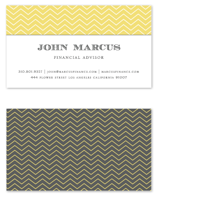 business cards Financial Advisor at Minted