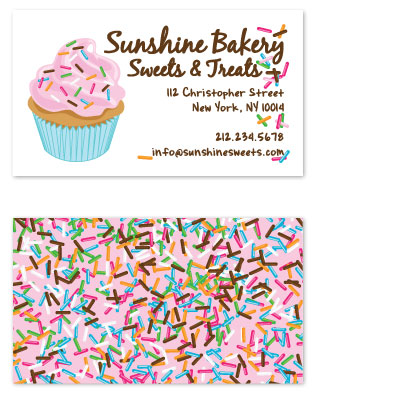 business cards - Sunshine Cupcake by Alisse Catherine