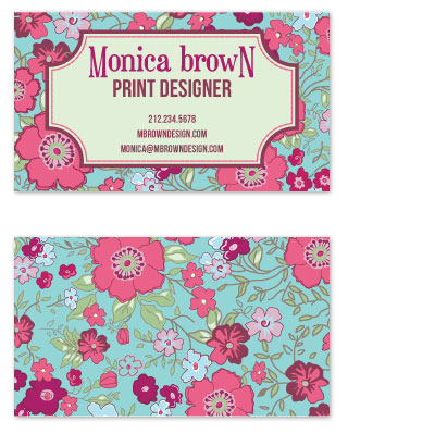 business cards - Lovely Garden by Alisse Catherine
