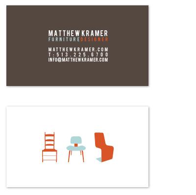 business cards - Furniture Designer by Lina Goldberg