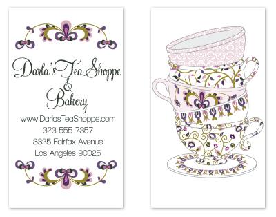 business cards - Tea Cup card by Caitlin Lamb