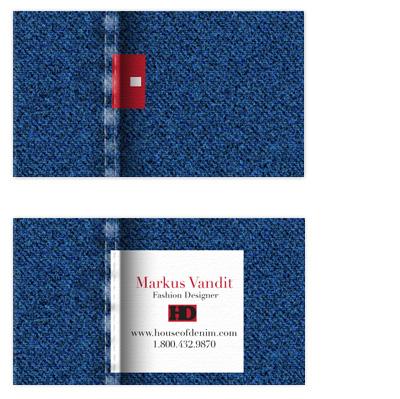 business cards Denim Jeans Design at Minted