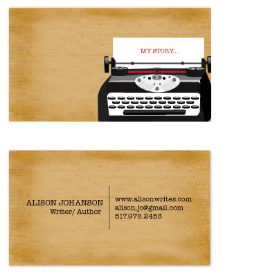 business cards - My Story Typewriter by that girl Shelley