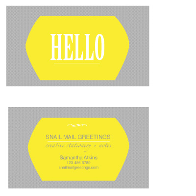 business cards - Bold Impact Hello  by that girl Shelley