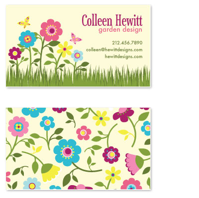 business cards - Cheerful Garden by Alisse Catherine