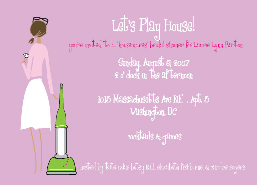 shower invitations - Let's Play House by Tres Chic Designs