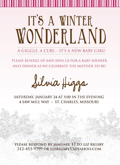 shower invitations winter wonderland by kelly reif