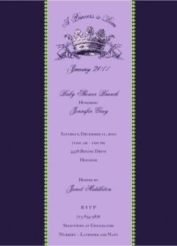 A Princess is Born Shower Invitations