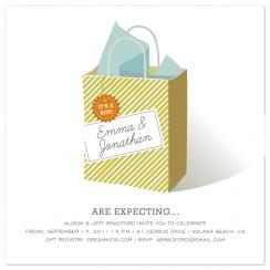 a simple gift Shower Invitations