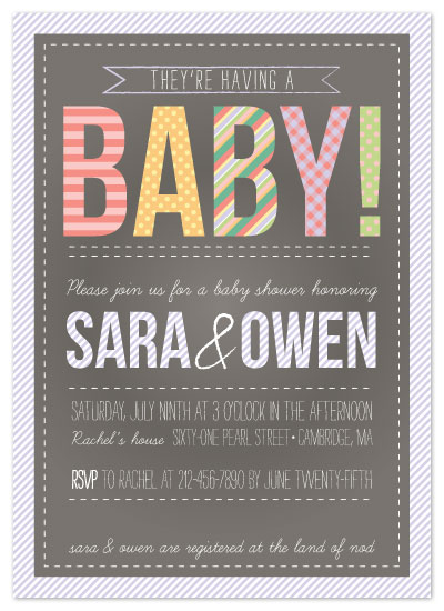 shower invitations - Pretty Pattern by Alisse Catherine