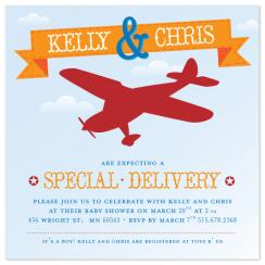 A Special Delivery Shower Invitations