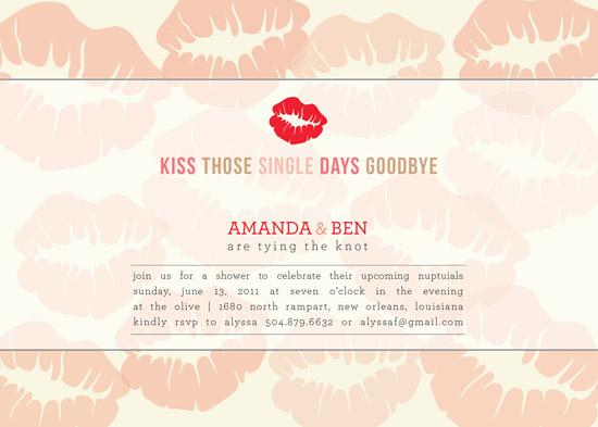 shower invitations - Kissy Kissy by mango designs