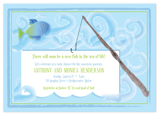 shower invitations fishing fun by joyful heart design