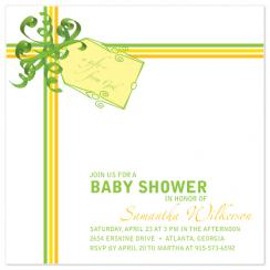A Gift from God in Citrus Colors Shower Invitations