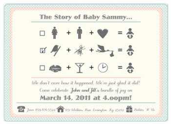 a+b+c = BABY Shower Invitations
