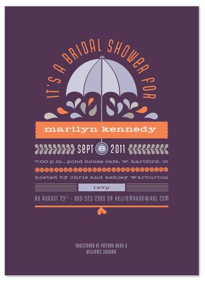 shower invitations - Under my Umbrella by Sandy Pons