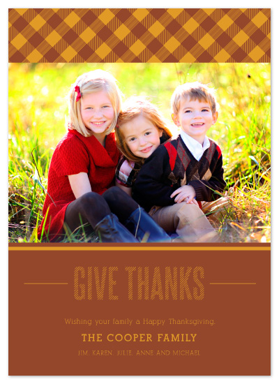 cards - Thanks-gingham by Smudge Design