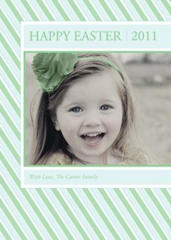 Green Easter Stripes Cards