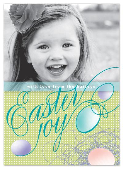 cards - Joyful Eggs by karen boehm custom