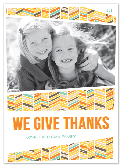 cards - Herringbone Thanksgiving by Ashley Foote