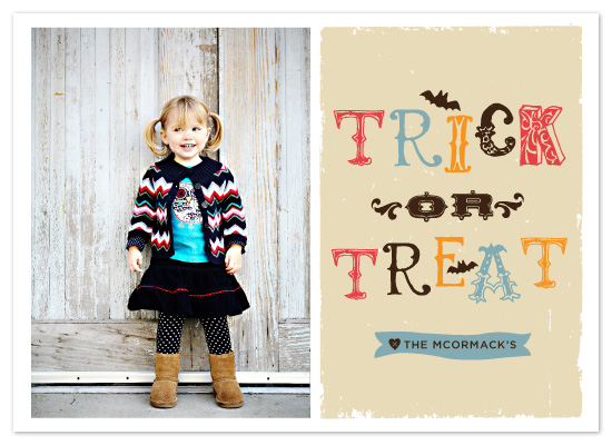 cards - Trick or Treat by chica design