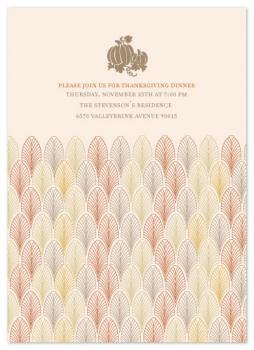 Leaves Thanksgiving Invitation Cards