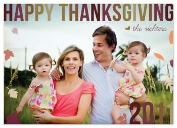 A Bold & Beautiful Thanksgiving Cards