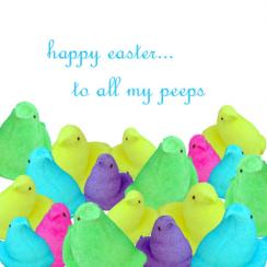 Happy Easter Peeps Cards