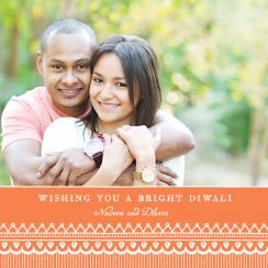 Mehndi Art Diwali Greetings Cards