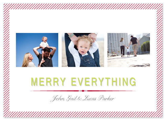 holiday photo cards - Merry Everything