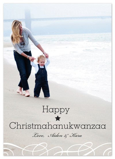 holiday photo cards - Happy Christmahanukwanzaa by C.O. Boutique