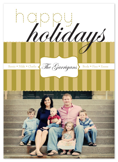 holiday photo cards - Gold Packaged Holiday Card by Potluck Design
