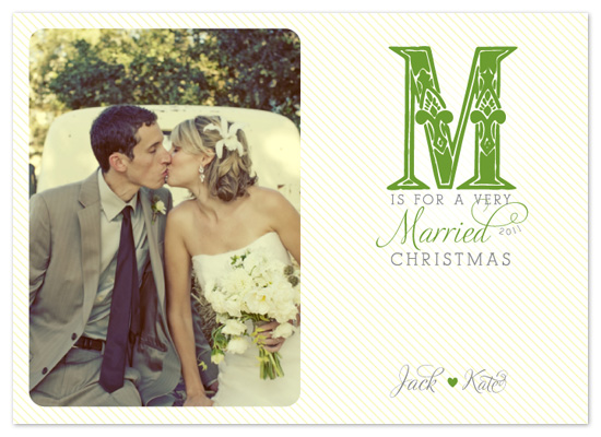 holiday photo cards - M is for Married
