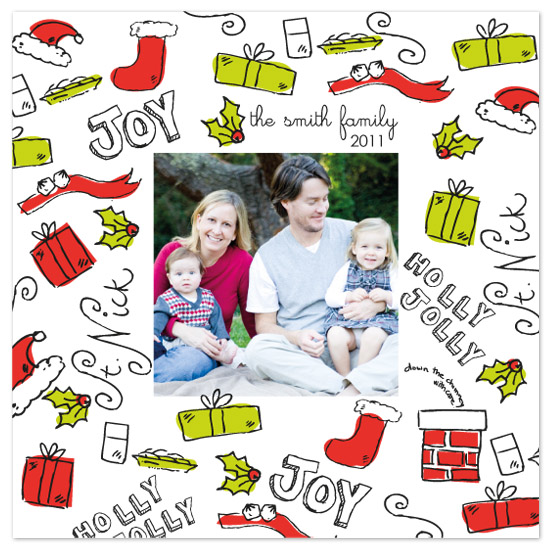 holiday photo cards - Christmas Doodle by Edub Graphic Design