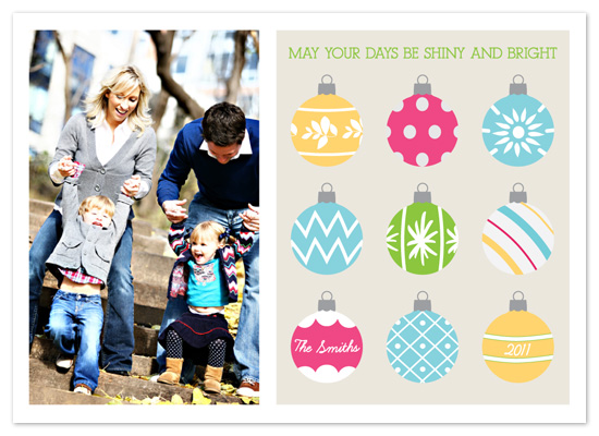 holiday photo cards - Shiny Bright Holiday
